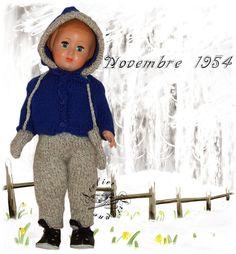 Vêtement pour poupée Modes et Travaux Marie Françoise ou Françoise Novembre 1954