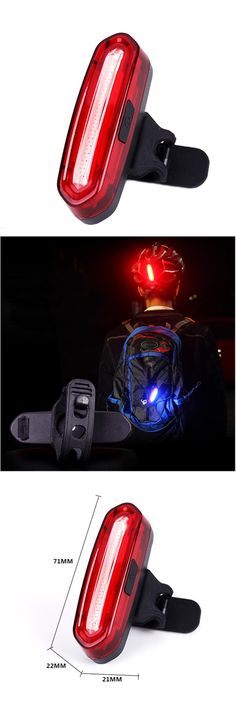 [Visit to Buy] Rear Bike light Taillight Safety Warning USB Rechargeable Bicycle Light Tail Lamp Comet LED Cycling Bycicle Light tail light #Advertisement