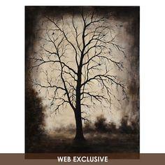 Naked Tree Canvas Painting | Kirklands