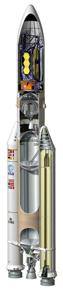 Ariane 5 ECA rocket for James web launch