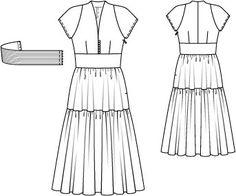 """Burda """"midi dress"""""""