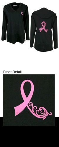 Pink Ribbon Swirl Lightweight Hooded Tunic at The Breast Cancer Site