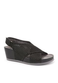 Softwalk Black Hansford Sandal