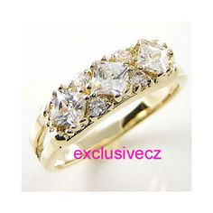 Spring Special~~~1/2 Carat~~~Size 6~~~YELLOW GOLD PLATED 18K GP CZ BAND RING