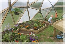 Inside a Geodesic Dome (Geodome) from Polytunnels Ireland
