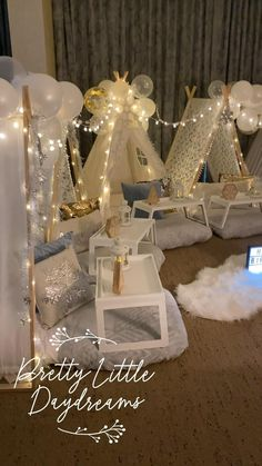 Pretty Little Daydreams comes to you to set up and stylize our unique sleepover tent set ups! We deliver to Grand Rapids MI and surrounding areas. #10thbirthday #birthday #birthdayparty #birthdayideas #kids #kidspartyideas #kidspartydecor #partydecorationideas #birthdayideasforkids #partyrental #partyideasforkids Slumber Party Ideas, Birthday Sleepover Ideas, Candy Theme Birthday Party, Fun Sleepover Ideas, Girl Birthday Decorations, Tent Decorations, Kids Party Decorations, Slumber Parties, 10th Birthday
