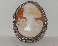 Antique Cameo Jewelry | vintage cameo brooch