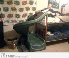 Bunk Bed Hack   17 Laziest Life Hacks Ever