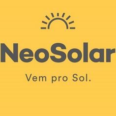 Placa Solar - Energia Solar Fotovoltaica - Kit Solar | Neosolar Off Grid, Solar Companies, Tech Companies, Kit Solar, Company Logo, Logos, Solar Shed Light, Sign, The Great Outdoors