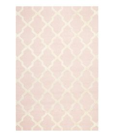 Pink & Ivory Rug on @zulily today! Just bought for Kate's room. Hope it's the right pink!
