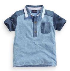 Short Sleeve Blue Colourblock Polo (3mths-6yrs) from Next