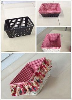Ideas Sewing Box Organization Basket Liners For 2019 Diy Home Crafts, Sewing Crafts, Diy Home Decor, Sewing Projects, Diy Projects, Sewing Diy, Fabric Crafts, Sewing Ideas, Upcycled Crafts