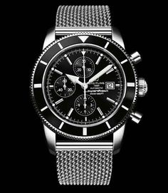 Breitling Superocean - in absolute love with the strap, simple yet elegant design.