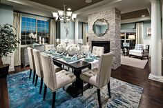 Dinning Room Table Style Guide For Your Home - Crithome Luxury Dining Room, Beautiful Dining Rooms, Dining Room Design, Dining Furniture, Furniture Decor, Dining Decor, Plywood Furniture, Modern Furniture, Furniture Design