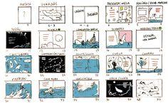 Storyboard de 'Acab y la Ballena Blanca / Acab y la Ballena Blanca' de Manuel Marsol