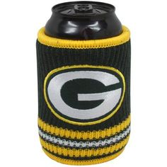 Sports fans can keep their favorite beverages at their desired temperature with this knit koozie. Boasting a durably cheerful construction along with team colors and logo, it's perfect for tailgating or watching the game at home. Packers Baby, Greenbay Packers, Packers Football, Packers Gear, Green Bay Packers Cheesehead, Wisconsin Tattoos, The Sporting Life, Clay Matthews, Go Pack Go