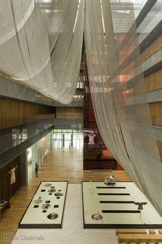 The Opposite House lobby designed by Japanese designer Kengo Kuma.