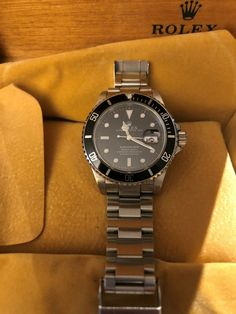 0f96f9a4dcc Rolex Submariner 16610 Stainless Steel Automatic Black Dial Date Mens Watch  for sale online