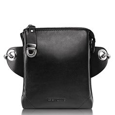 Teemzone Mens Genuine Leather Shoulder Cross Body Waist Bag Larger size updated Black >>> Learn more by visiting the image link.