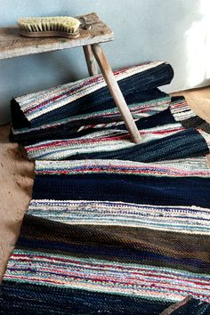 Tyger, Rag Rugs, Recycled Fabric, Woven Rug, Scandinavian Style, Carpets, Pattern Design, Weaving, Fabrics
