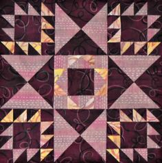 Flying Star Quilt Block, by Jennifer Schifano Thomas, Curlicue Creations
