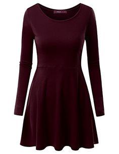Doublju Women Long Sleeve Colorful Drape Mini Dress BURGUNDY,2XL Doublju http://www.amazon.com/dp/B017IOB8PG/ref=cm_sw_r_pi_dp_MevLwb02FW3CA