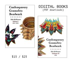 Yes! We would love to send you a (read-only) PDF copy of either or both of the wildly popular Contemporary Geometric Beadwork Volumes! Select what you want from the drop-down menu, and we will email you back with a download password.This groundbreaking book is a celebration of form, geometric shapes in beadwork, and structure with intent, and is suitable for beaders of all skill levels. Beginning beaders will be excited and challenged by the shapes, but led gently into the ideas...