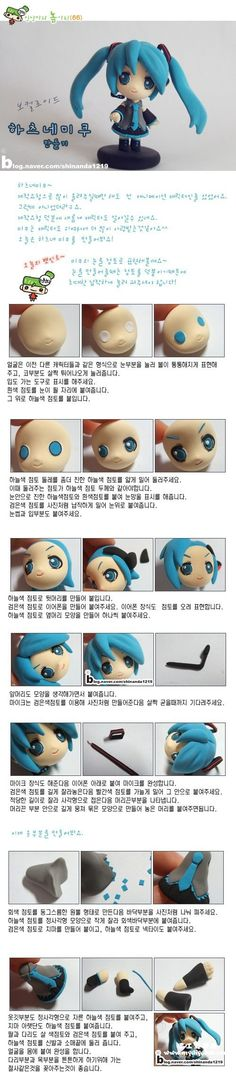 Hatsune Miku tutorial is great for the eyes so pretty. I love anime polymer clay things OMG Crea Fimo, Fimo Clay, Polymer Clay Charms, Polymer Clay Projects, Polymer Clay Art, Clay Crafts, Polymer Clay Jewelry, Hatsune Miku, Polymer Clay Miniatures