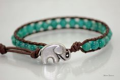 Russian Amazonite Leather Wrap Bracelet by StoneSource on Etsy, $25.00