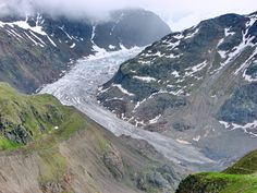 Gepatsch Glacier as seen from the Kaunertal Gletscherstrasse -- Tyrol, Austria