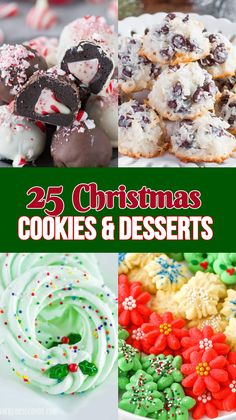 25 Christmas Cookies & Desserts That Will Earn You a Top Spot on Santa's Nice List - Back For Seconds - Holidays Cheesecake Desserts, Cookie Desserts, Christmas Desserts, Cupcake Cookies, Flower Cookies, Christmas Foods, Christmas Treats, Easy No Bake Desserts, Delicious Desserts