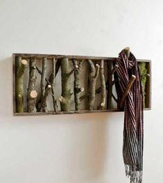 Clothes Hanger and Wall Art all in one. woodworking-hanger