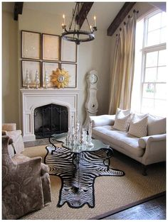 The toning picture frames over the mantle stands in for architectural detail.Color Outside the Lines: TUESDAY: Inspiring Spaces by Lisa Luby Ryan
