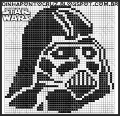 Darth Vader - Star Wars pattern - Dinha Ponto Cruz
