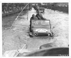 Treading water in a Willys Jeep 4x4