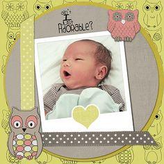 #papercraft #scrapbook #layout Scrapbook baby Kenzo