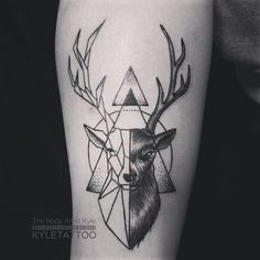 geometric moose tattoo - Google'da Ara                                                                                                                                                      Más