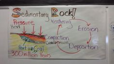 Formation of sedimentary rock & fossil fuel anchor chart