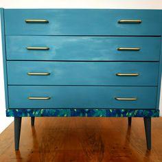 Retro upcycled dresser, TV stand, cabinet Dresser Tv, Decoupage, Retro Vintage, Upcycle, Cabinet, Furniture, Home Decor, Clothes Stand, Homemade Home Decor