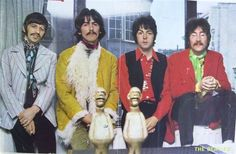 17th May 1967. The Beatles photographed in Brian Epstein's office.
