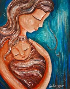 attachment, daughter, babywear, baby wearing, blonde hair, brown hair, connection, cuddle,  emotion, family, intimate, short hair, long hair, blue, gift for mom, loss, heart, angel baby, angelversary, sad, babywrap, woven, girl, red, print on canvas