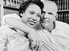 Mildred & Richard Loving were arrested for breaking Virginia's law against interracial marriage.  Their landmark Supreme Court case, Loving v. Virginia legalized interracial marriage in the U.S. It's neat how their name was Loving and how they advocated love and marriage between the races.