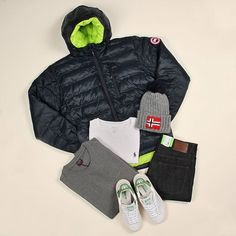 Tuesday's #aphroditeessentials are perfect for the colder days. Featuring our @canadagoose lodge hoody, a @ralphlauren t-shirt, a @paulsharkofficial sweatshirt, @hugoboss Green jeans, some @adidasoriginals Stan Smith trainers and a @napapijri hat. What do you think? #aphrodite1994 #aphroditeclothing #mensfashion #aw16 #newseason #sneakers #outerwear #adidas #canadagoose #flatlay #flatlays #flatlayapp www.flat-lay.com