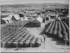 April 12th, 1915 - Allied Invasion Force Assembles on Greek Island of Lemnos Pictured - A French wine store in the town of Moudros. With the failure of the navy to break through the Dardanelles...