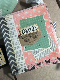 Well, I finally did it, I covered my Journaling Bible! Scrapbook paper, dictionary pages with a little washi tape, applied with Modge Podge.by Nola Chandler