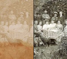 Photo restaration - before/after Genealogy Research, Painting, Art, Art Background, Painting Art, Kunst, Paintings, Performing Arts, Painted Canvas