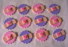 12 DOC MCSTUFFINS Inspired Band Aid Edible Fondant Cupcake Toppers w/Background