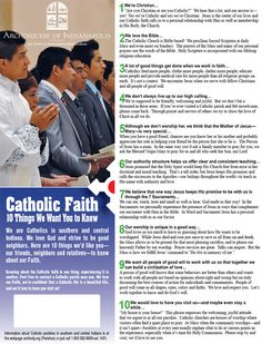 10 Things We Want You to Know About the Catholic Faith.