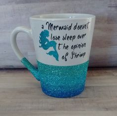 Ombre Glittered Coffee Mug Mermaid by LDKreactions on Etsy