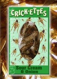Edible seasoned crickets ... flavor Sour Cream and Onion